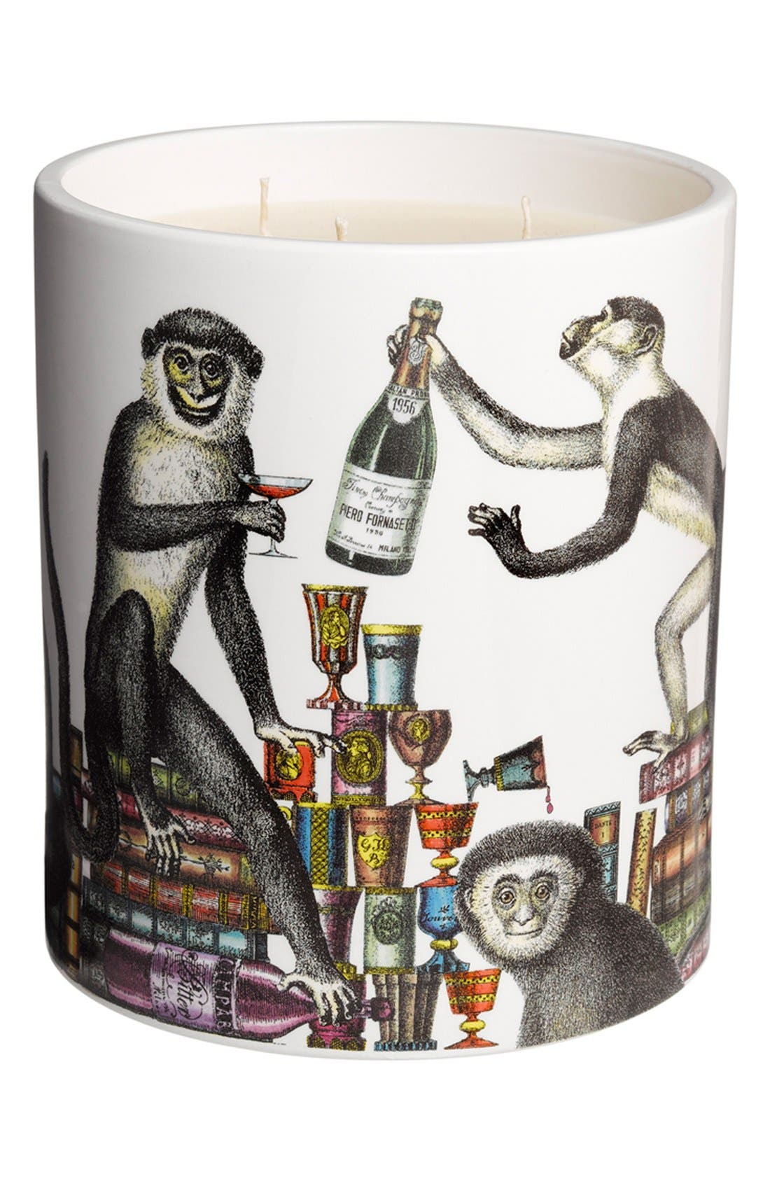 Alternate Image 1 Selected - Fornasetti 'Scimmie - Segretto' Large Candle