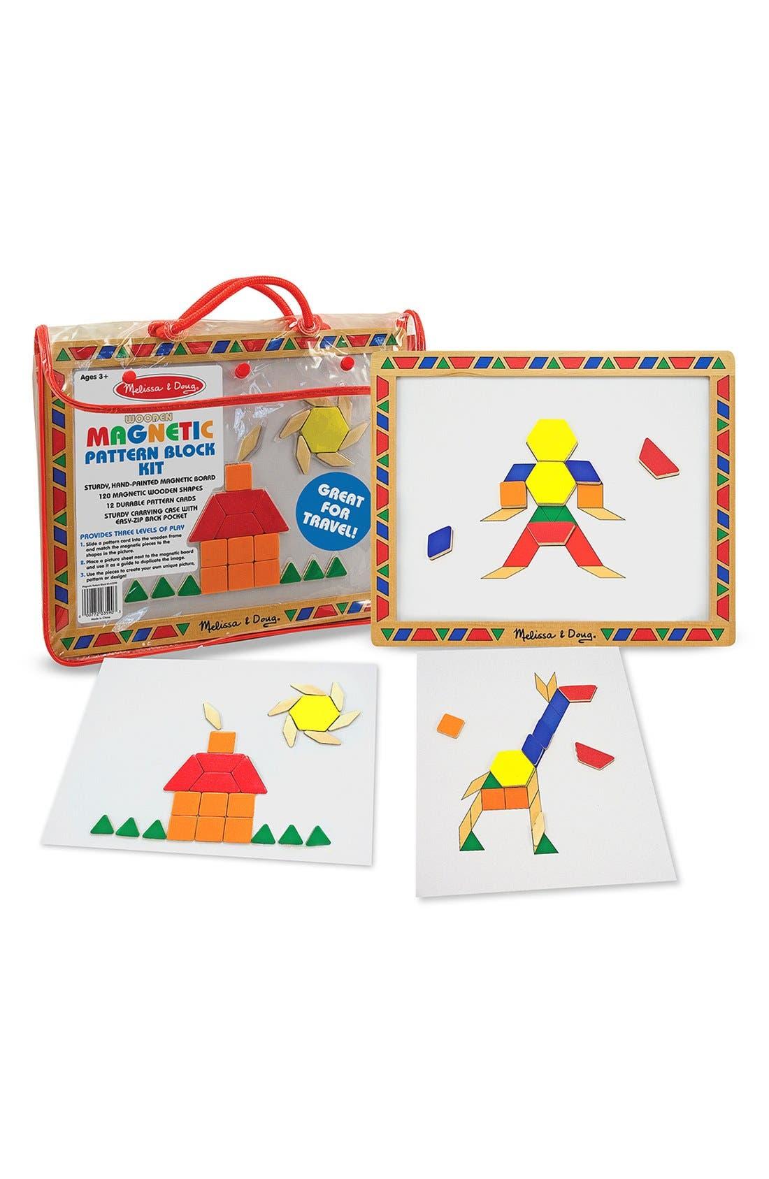 Magnetic Pattern Block Kit,                         Main,                         color, Brown