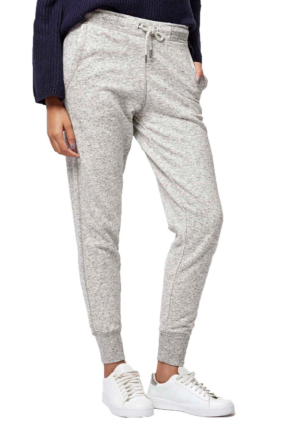 Slim Fit Marled Jogger Pants,                             Main thumbnail 1, color,                             Light Grey