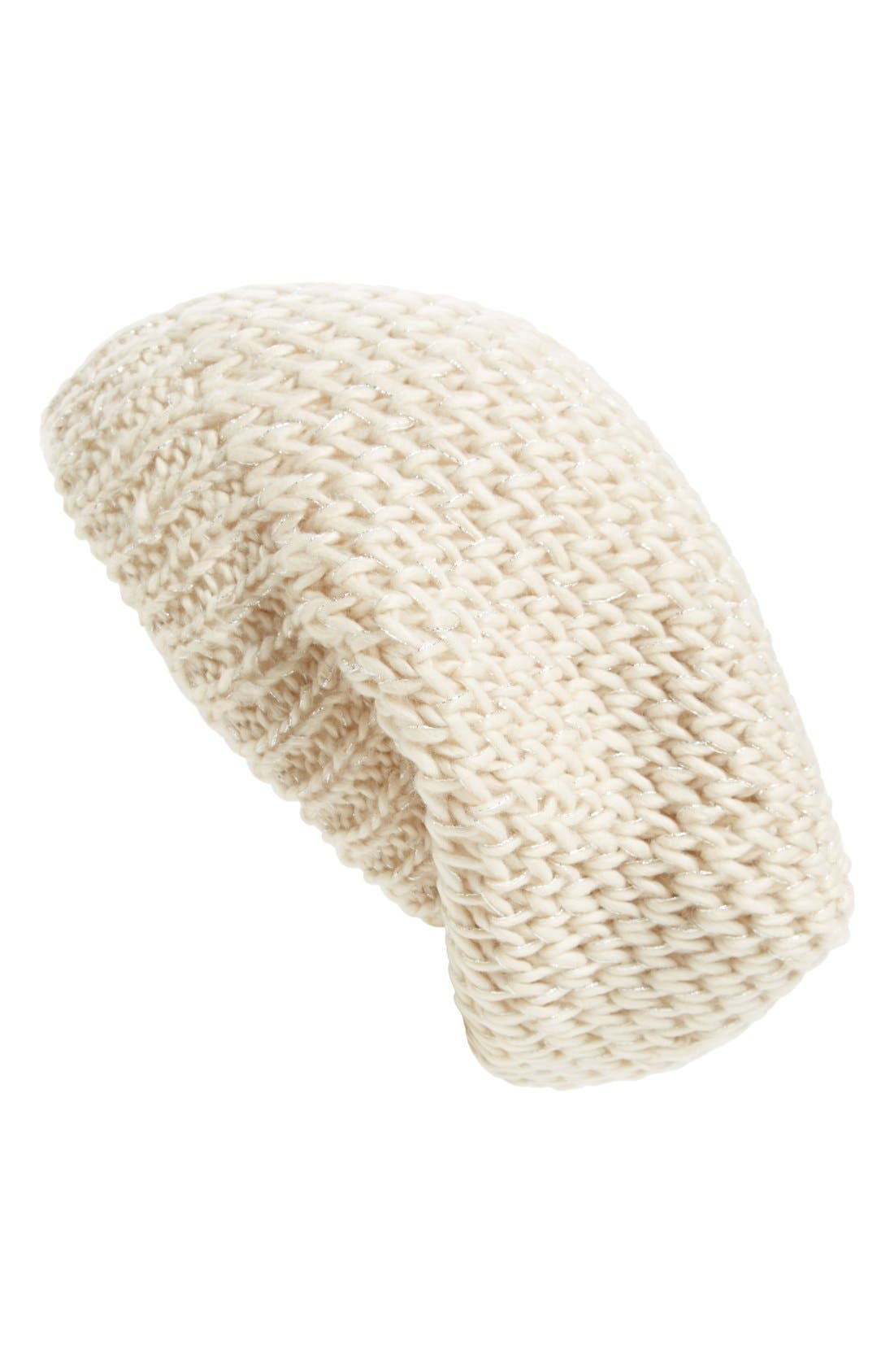 Main Image - Sole Society Shimmer Knit Slouchy Beanie
