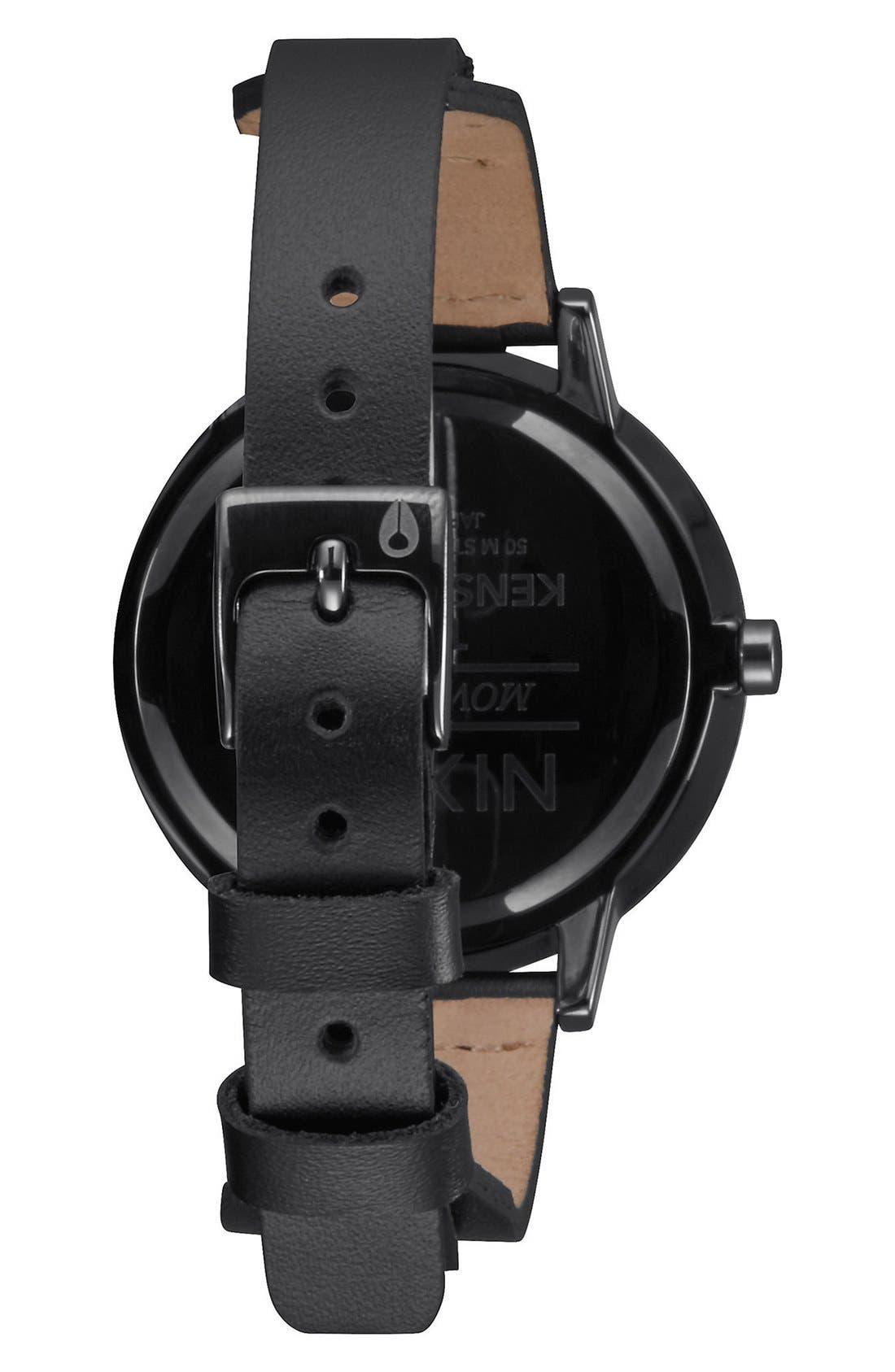 Alternate Image 2  - Nixon 'The Kensington' Leather Strap Watch, 37mm