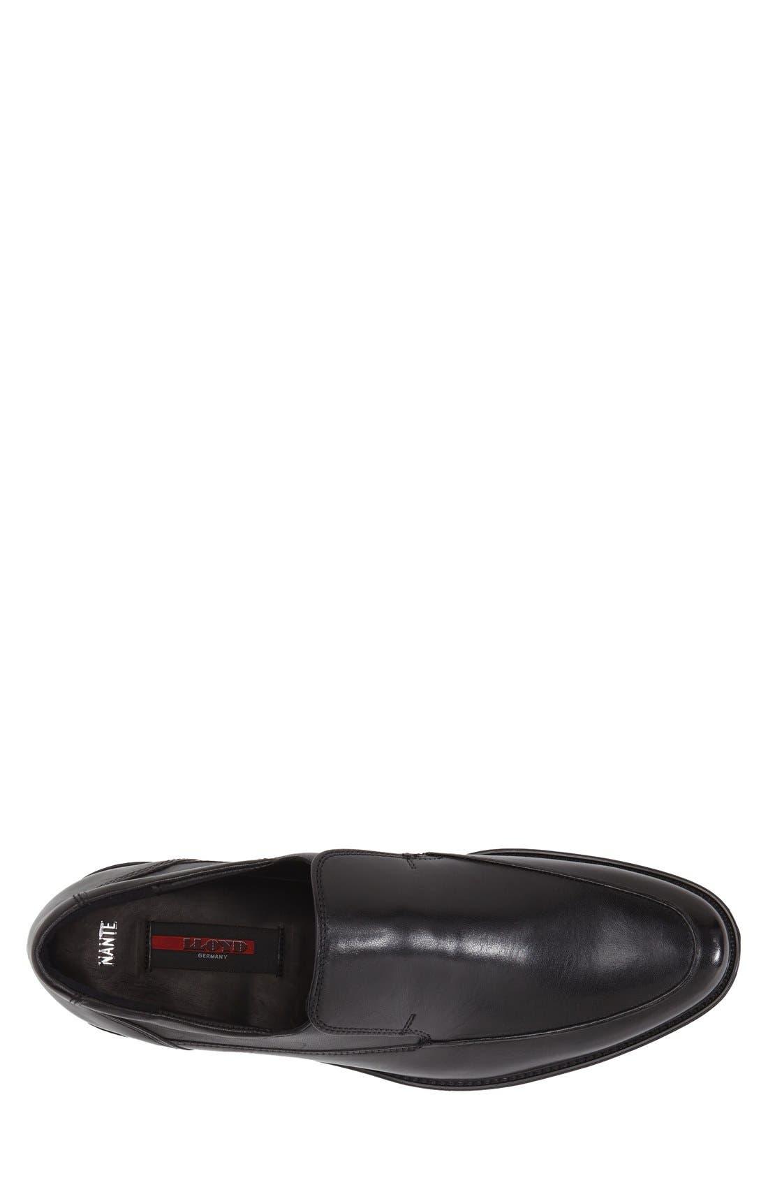 'Nante' Venetian Loafer,                             Alternate thumbnail 3, color,                             Black
