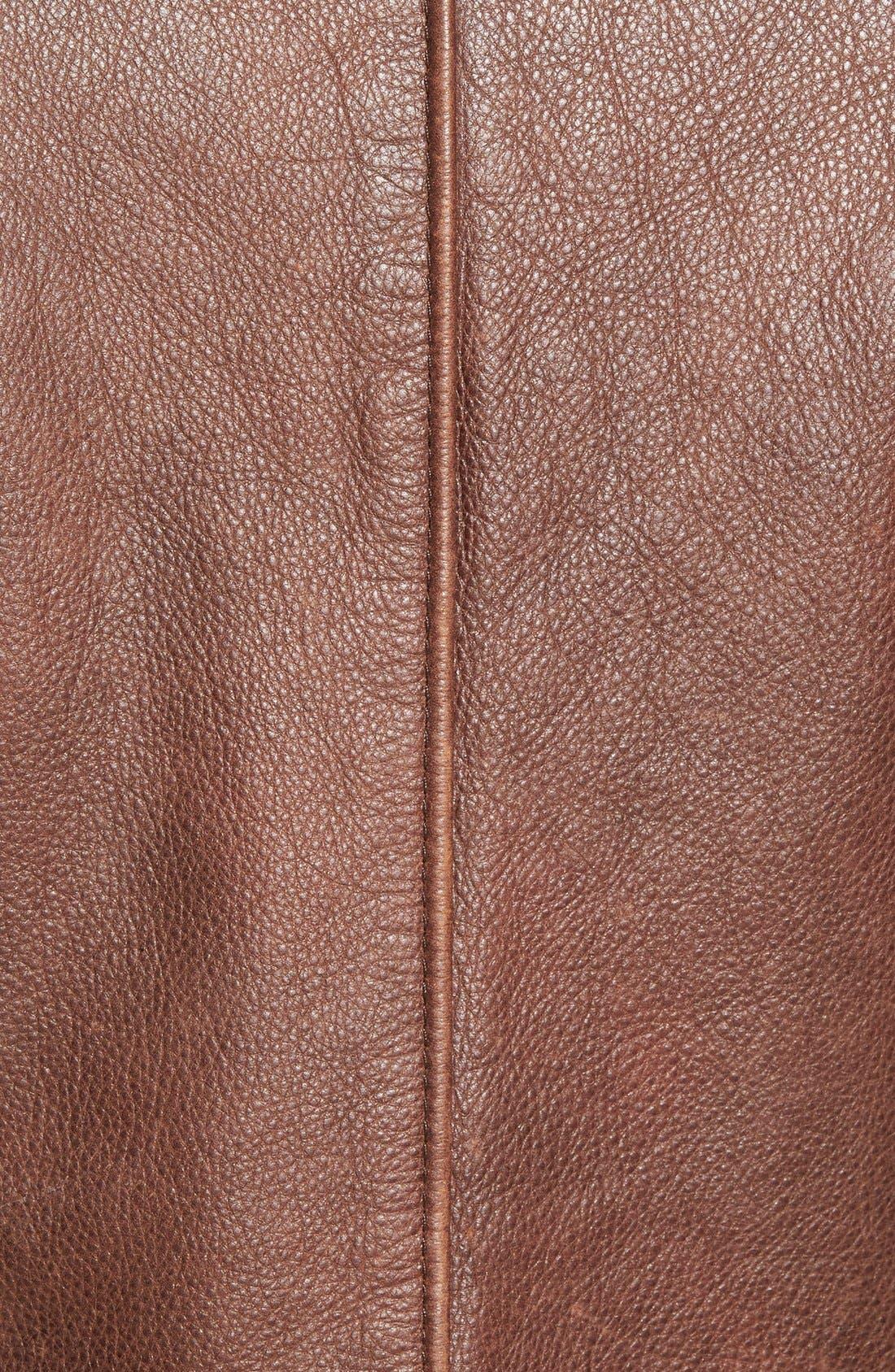 Alternate Image 5  - Schott NYC Café Racer Slim Fit Leather Jacket