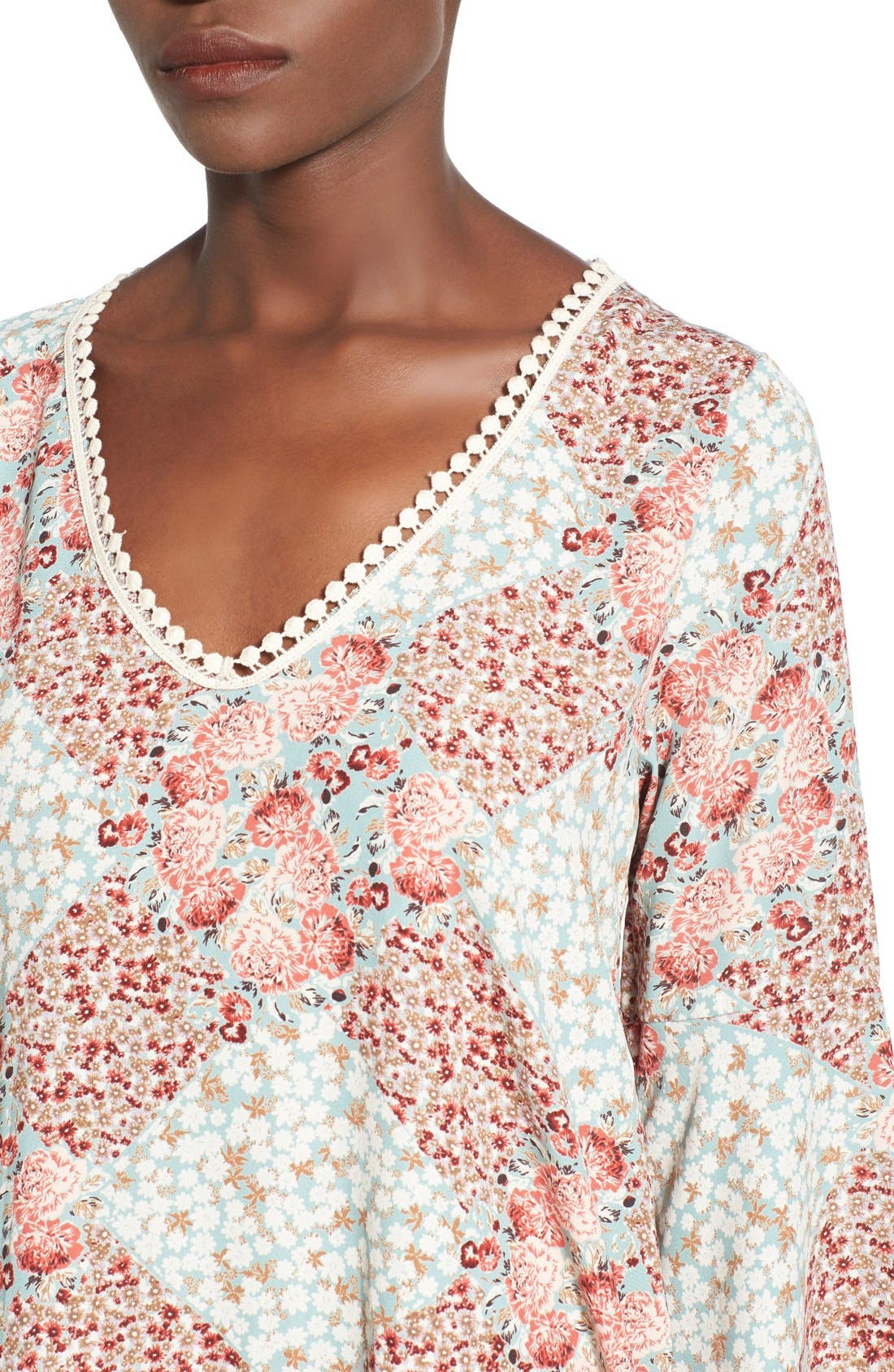 Alternate Image 4  - jella c. Boho Bell Sleeve Shift Dress