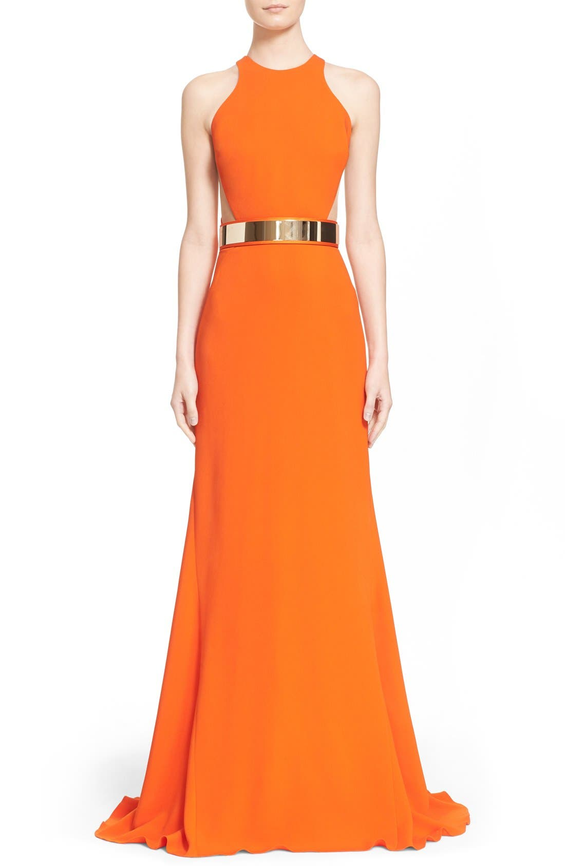 Alternate Image 1 Selected - Stella McCartney Belted Stretch Cady Gown
