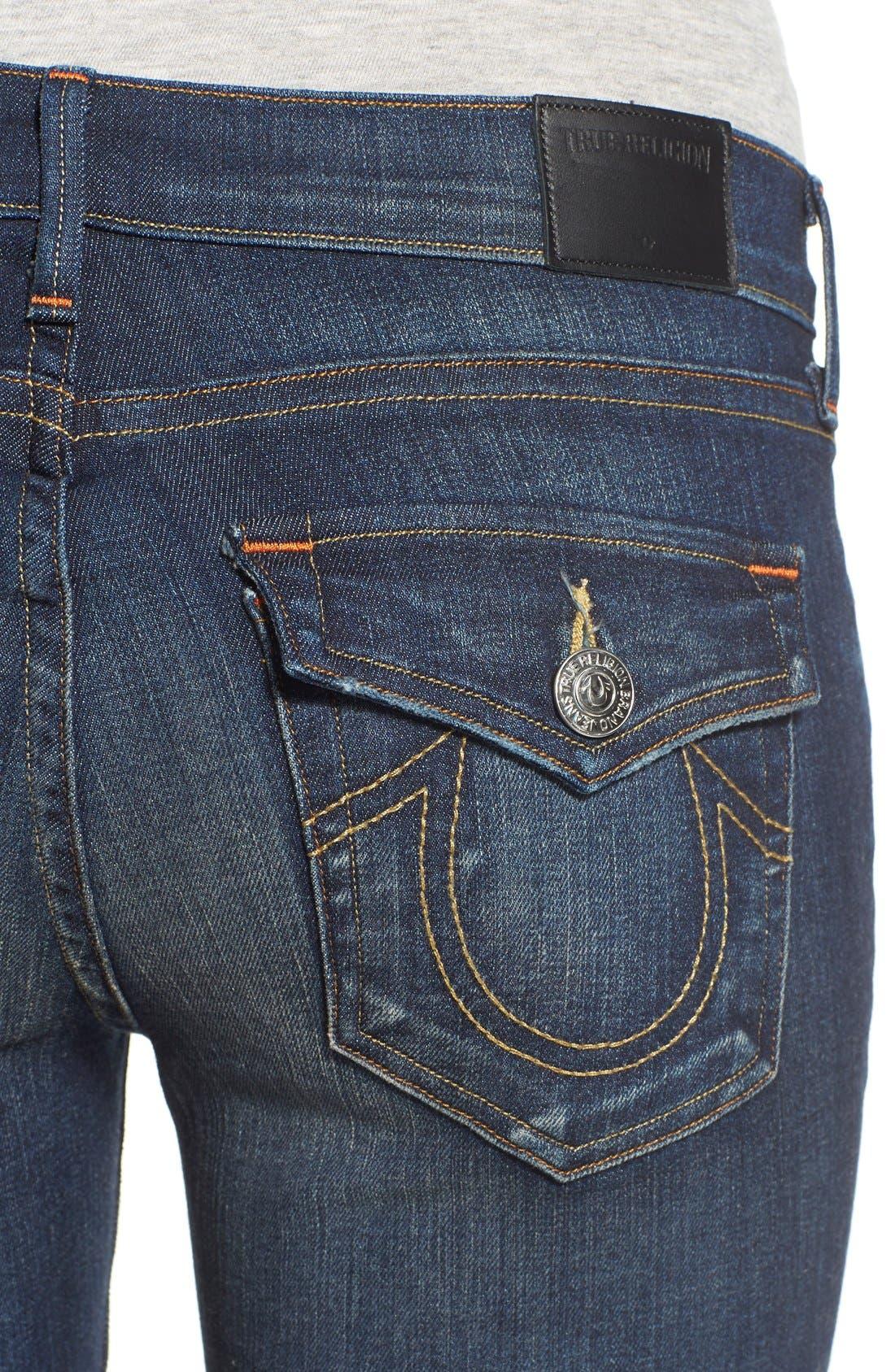 Alternate Image 4  - True Religion Brand Jeans 'Becca' Twisted Seam Bootcut Jeans (Boyfriend Wash)