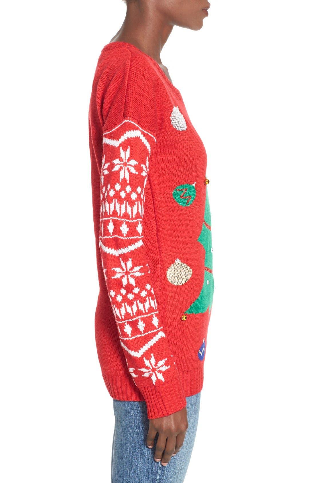Alternate Image 3  - Derek Heart Tree Ornament Christmas Sweater
