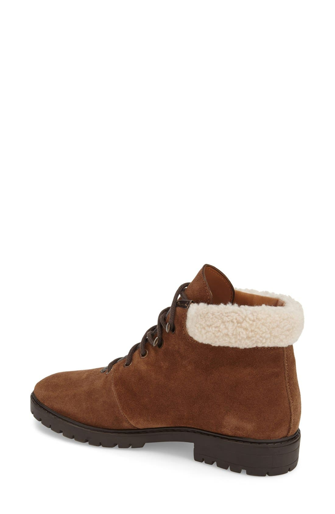 Alternate Image 2  - Topshop Lace-Up Ankle Boots with Faux Fur Trim (Women)