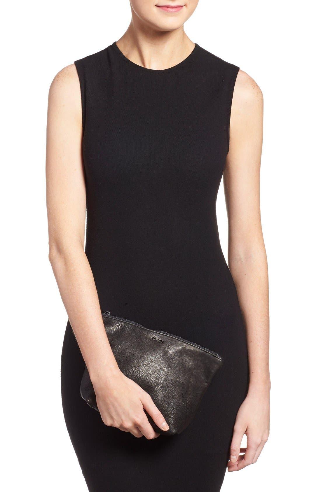 Alternate Image 2  - Baggu® Medium Leather Zip Pouch