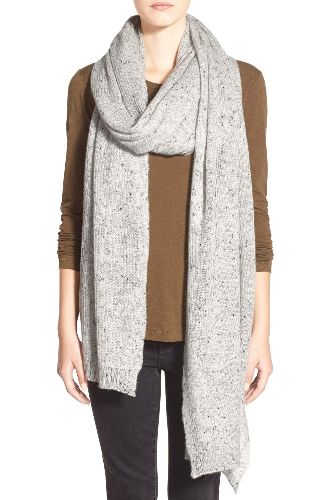 Mottled Cashmere Scarf,                         Main,                         color, Donegal Cloud