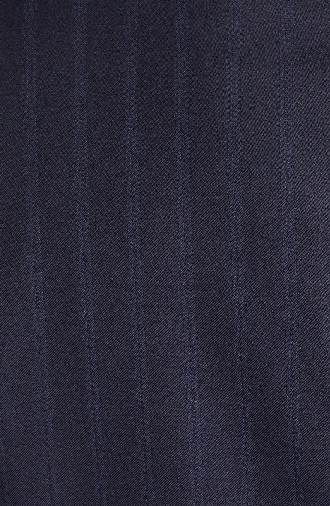 Alternate Image 7  - Hickey Freeman Classic B Fit Stripe Wool Suit