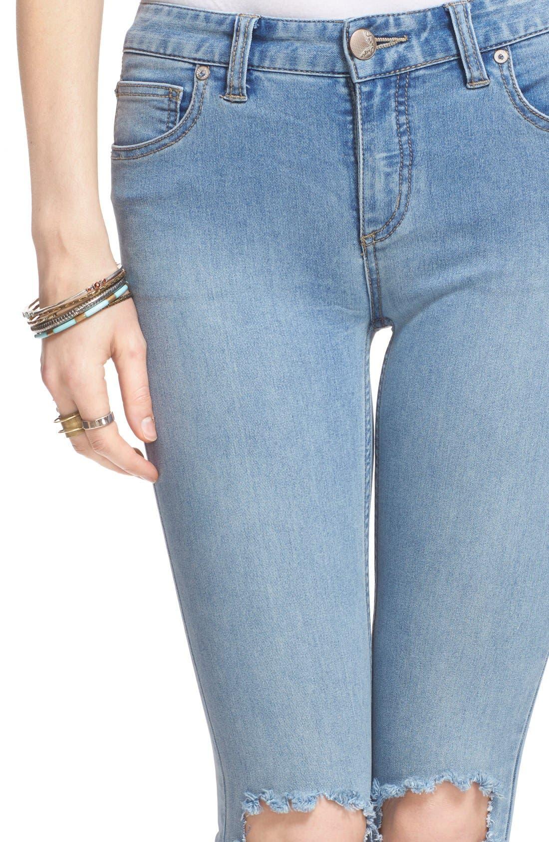 Destroyed Skinny Jeans,                             Alternate thumbnail 4, color,                             Brass