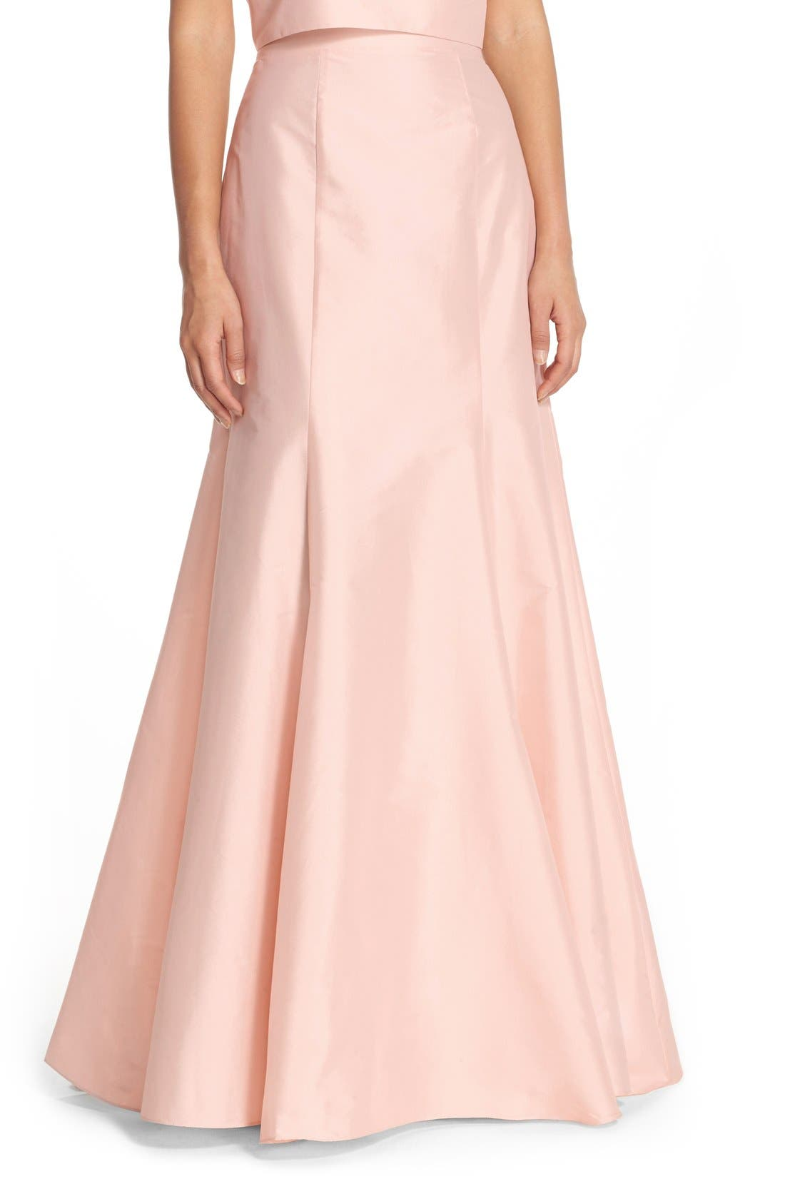 Floor Length Taffeta Mermaid Skirt,                             Main thumbnail 1, color,                             Blush