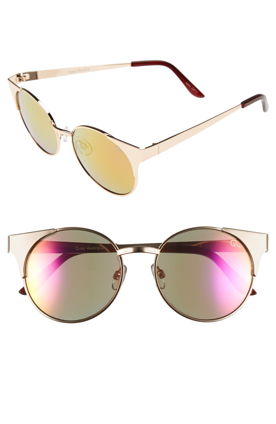 Alternate Image 1 Selected - Quay Australia 'Asha' 50mm Metal Sunglasses