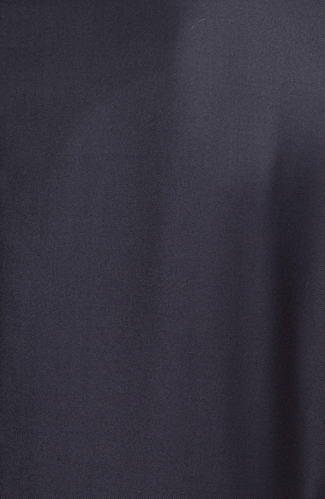 Classic B Fit Solid Wool Suit,                             Alternate thumbnail 6, color,                             Navy