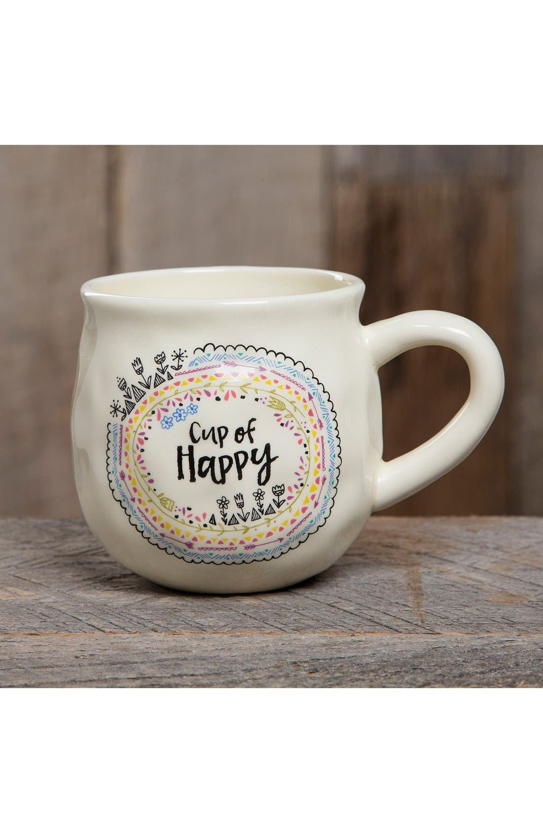 Alternate Image 2  - Natural Life 'Cup of Happy' Ceramic Coffee Mug