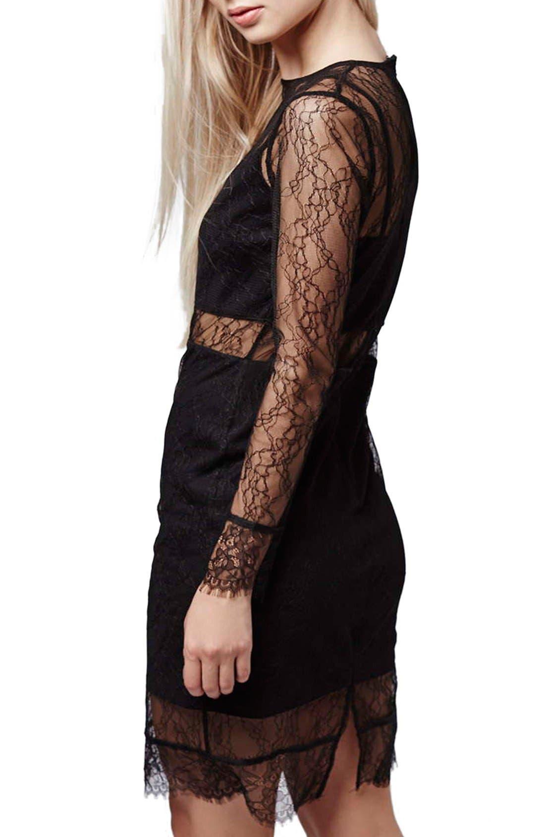 Alternate Image 3  - Topshop Lace Overlay Body-Con Dress (Regular & Petite)