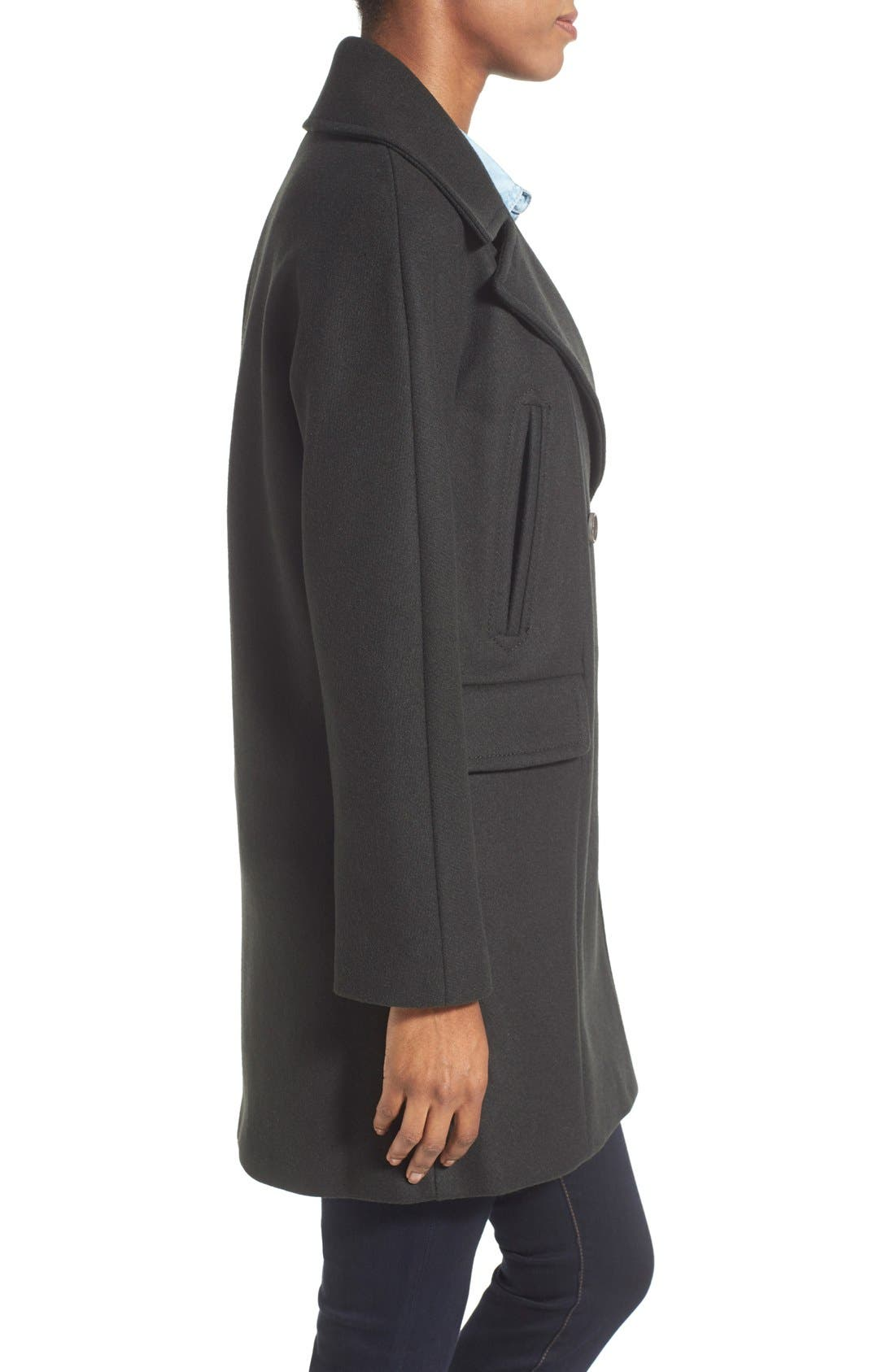 Alternate Image 3  - Vince Camuto Double Breasted Peacoat