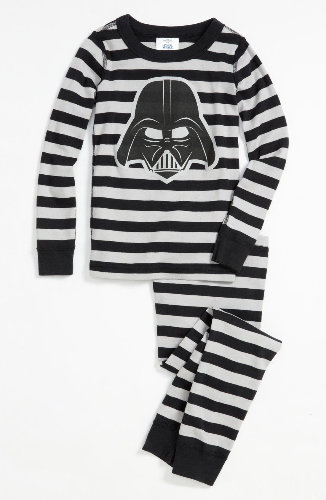 Alternate Image 1 Selected - Hanna Andersson Darth Vader™ Organic Cotton Fitted Two-Piece Pajamas (Toddler Boys, Little Boys & Big Boys)