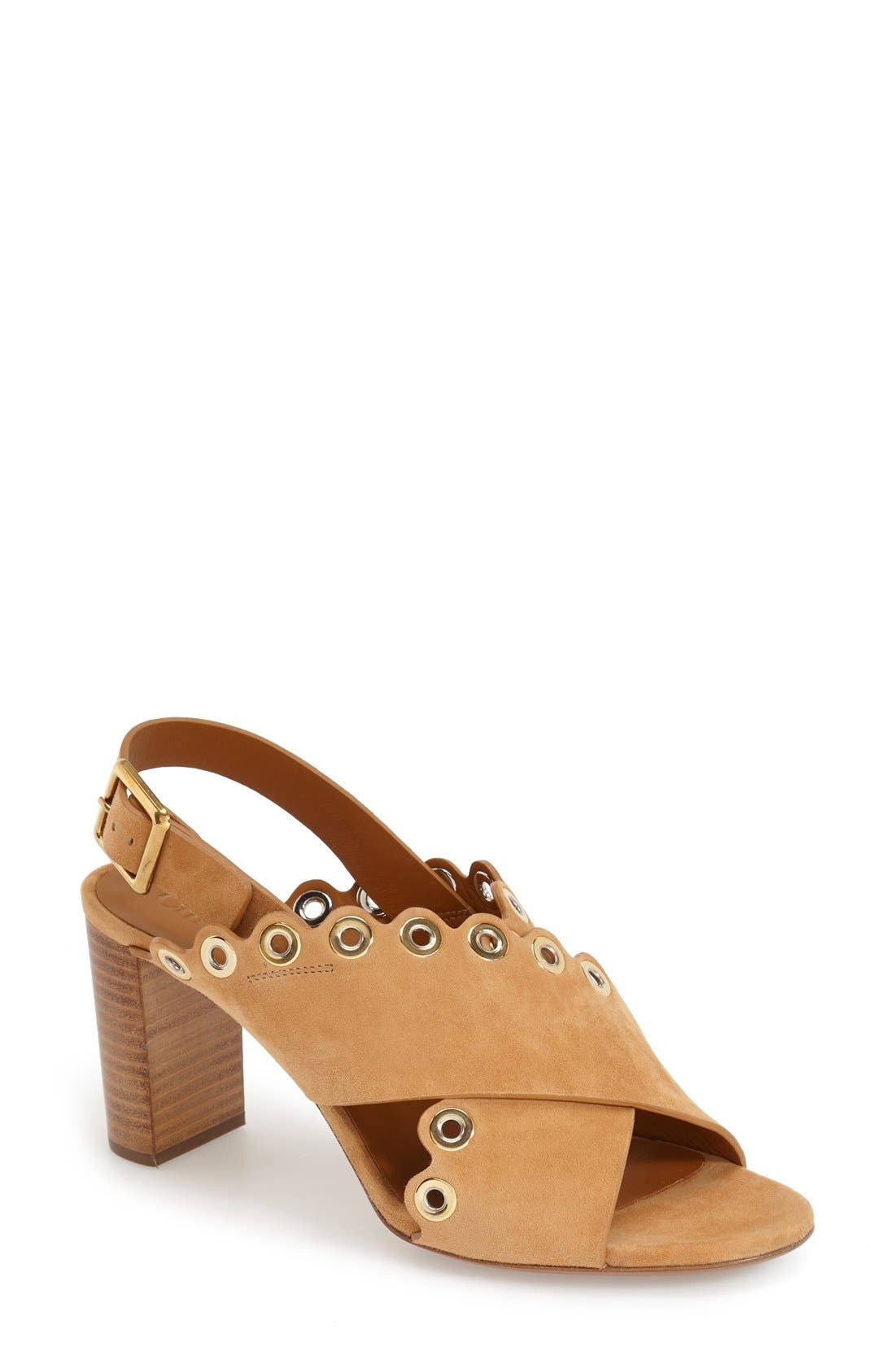 'Flo' Sandal,                         Main,                         color, Beige Suede