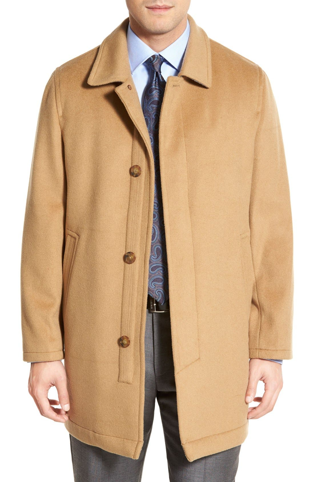 Hart Schaffner Marx 'Douglas' Classic Fit Wool & Cashmere Overcoat