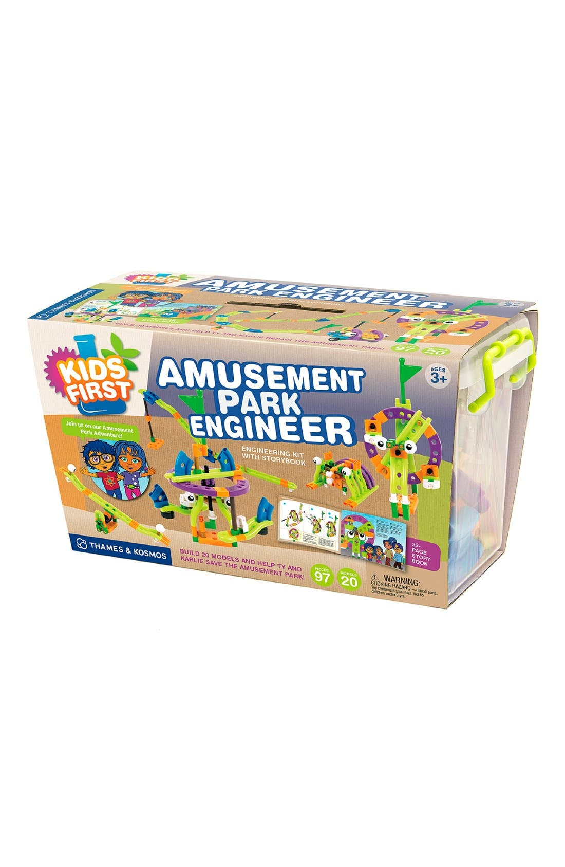'Amusement Park Engineer' Experiment Kit,                         Main,                         color, Blue
