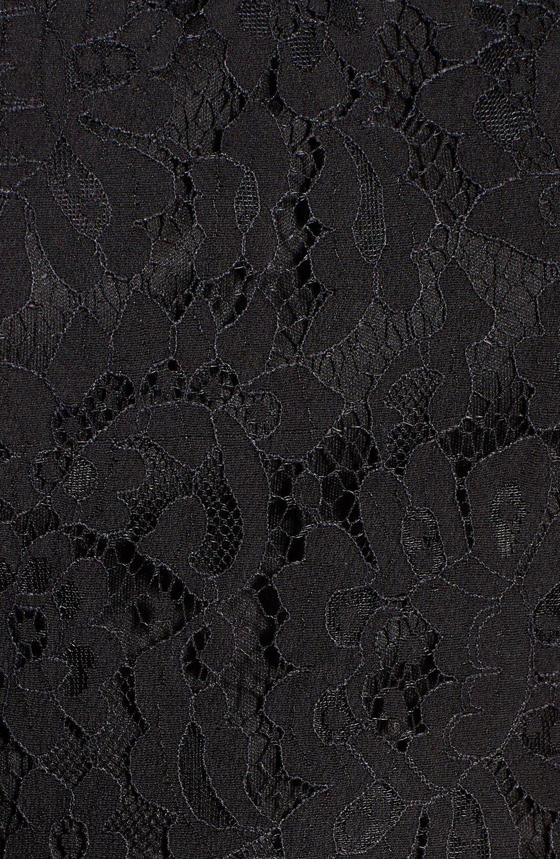 Alternate Image 5  - Glamorous Lace Open Back Fit & Flare Dress