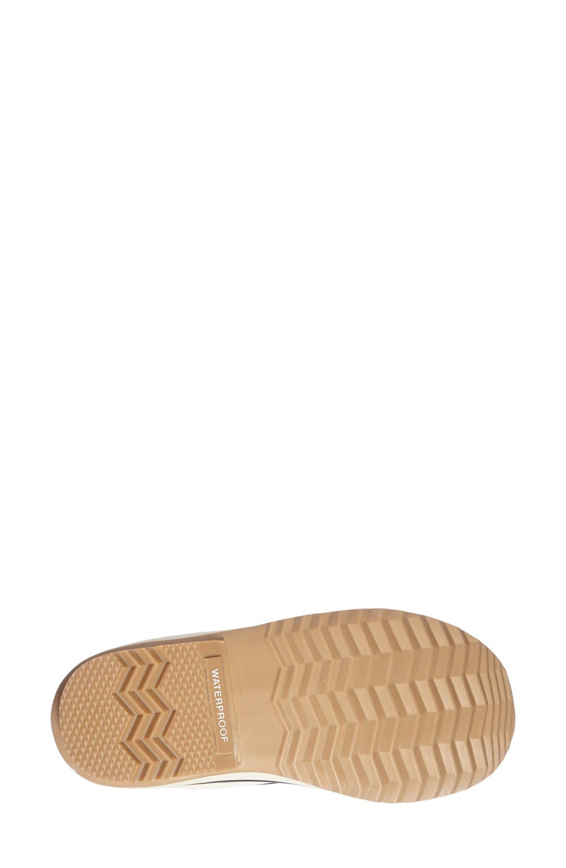'Joan of Arctic - Knit II' Waterproof Boot,                             Alternate thumbnail 4, color,                             Black