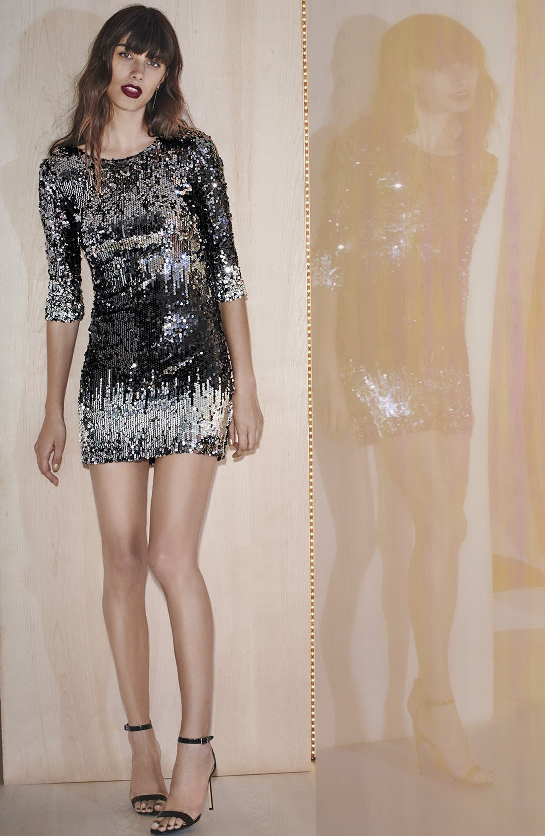 Alternate Image 7  - BB Dakota 'Elise' Ombré Sequin Sheath Dress