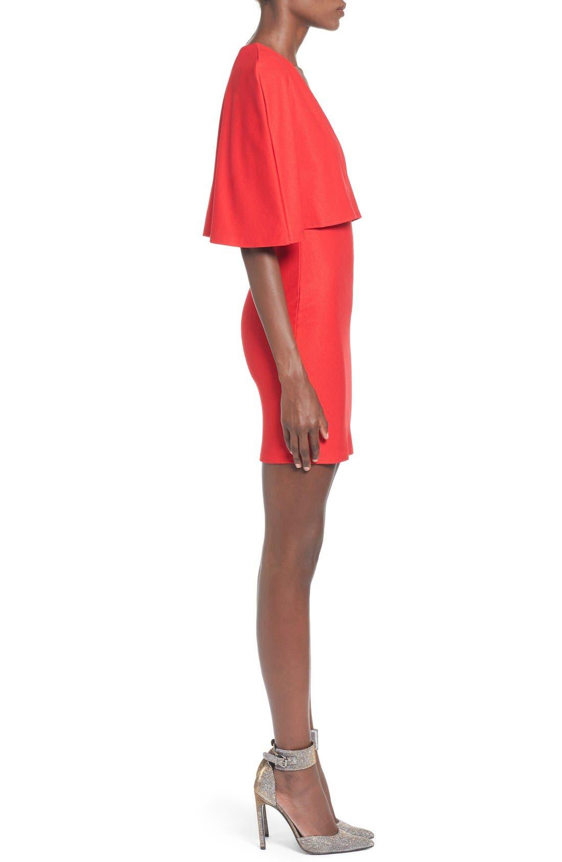 Alternate Image 3  - Missguided Cape Body-Con Dress