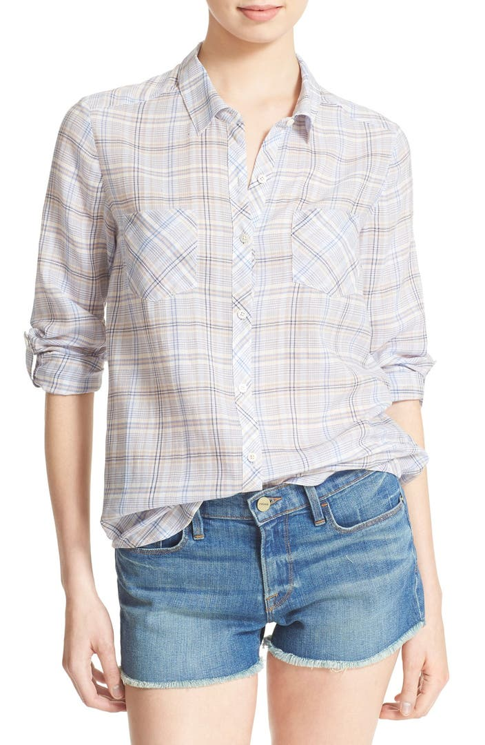 Soft joie 39 sequoia 39 plaid shirt nordstrom for Soft joie plaid shirt