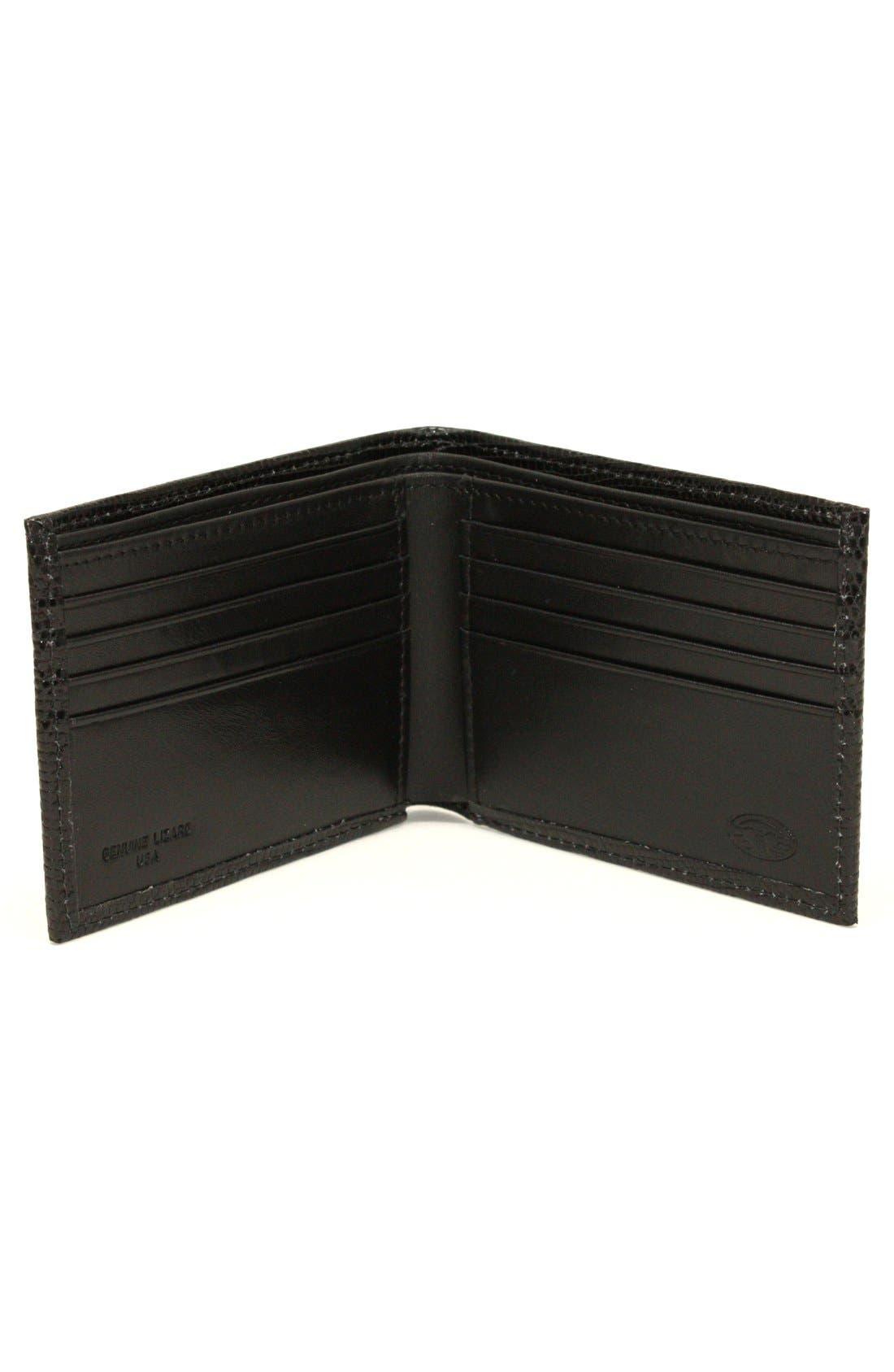 Alternate Image 2  - Torino Belts Genuine Lizard Wallet