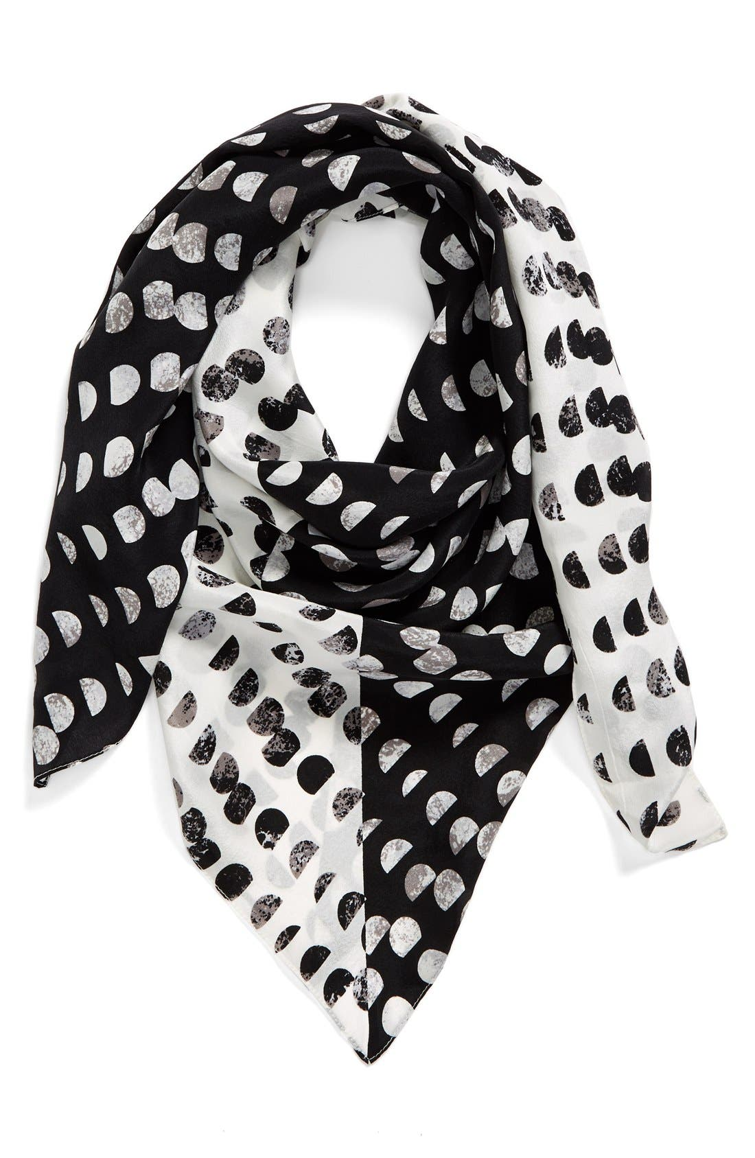 Alternate Image 1 Selected - Halogen® 'Ripple Dots' Square Silk Scarf