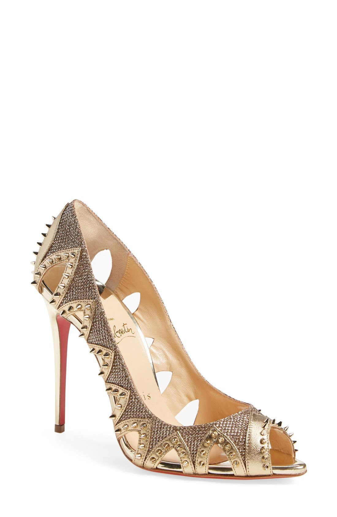 Alternate Image 1 Selected - Christian Louboutin 'Pinder City' Peep Toe Pump