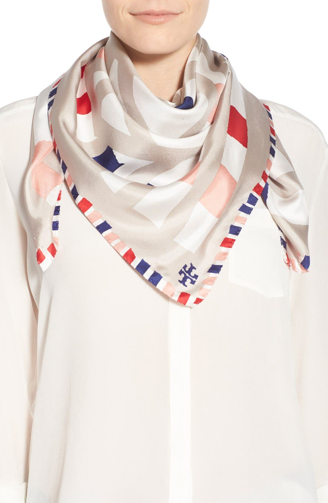 Alternate Image 1 Selected - Tory Burch 'Legato' Printed Square Silk Scarf
