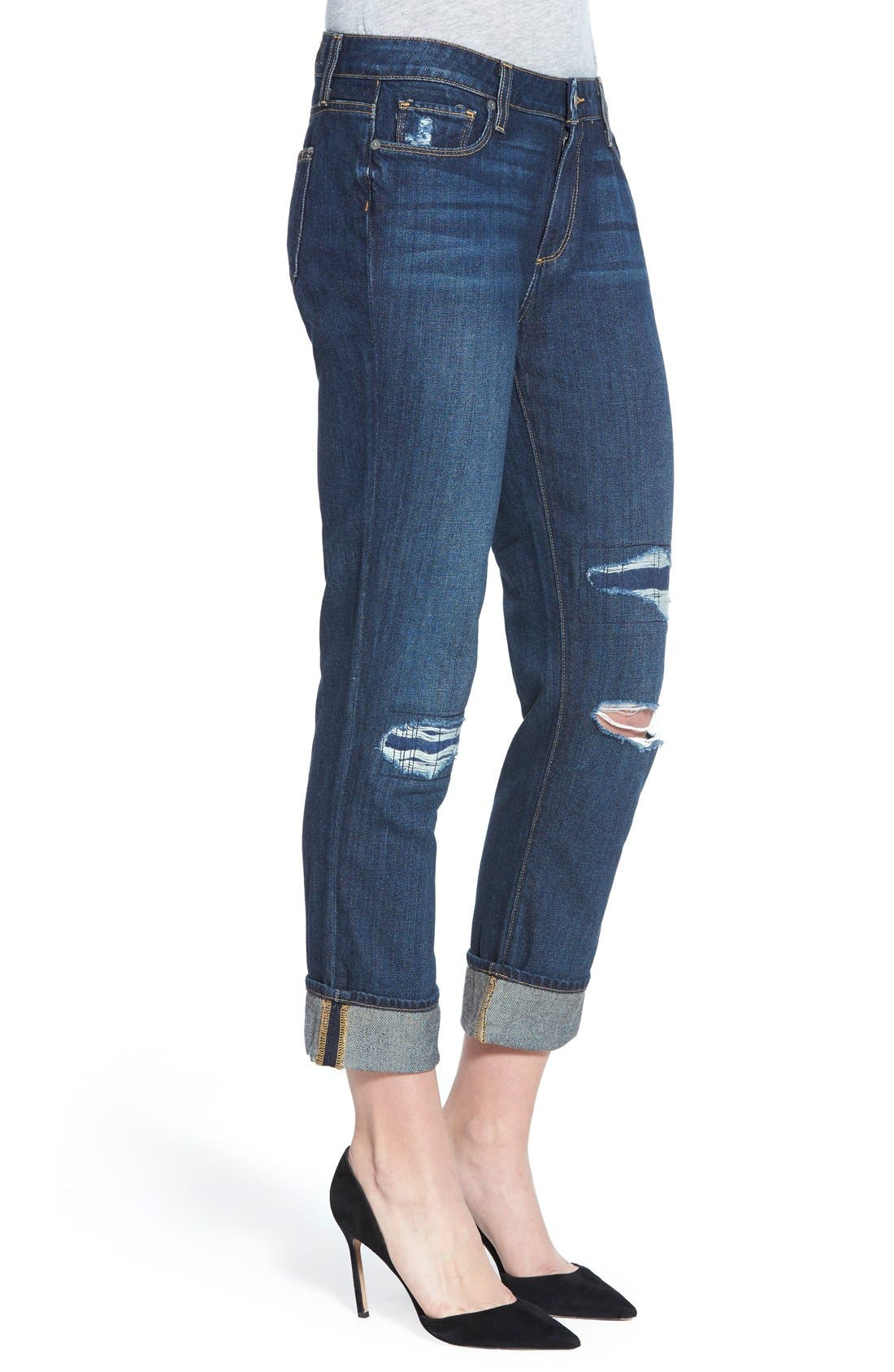 Alternate Image 3  - Paige Denim 'Porter' Boyfriend Jeans (Talley Destructed)