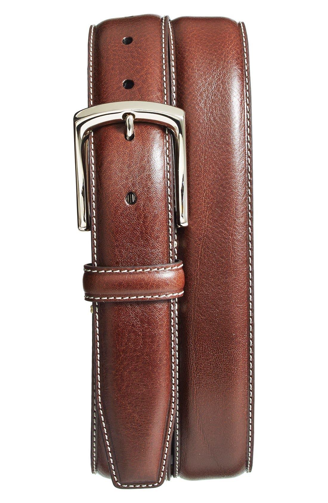 torino belts burnished leather belt nordstrom