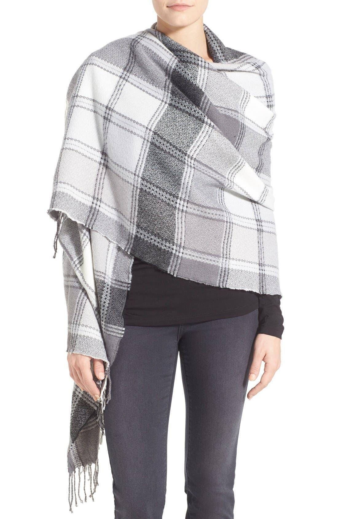 Alternate Image 1 Selected - Nordstrom Plaid Blanket Wrap