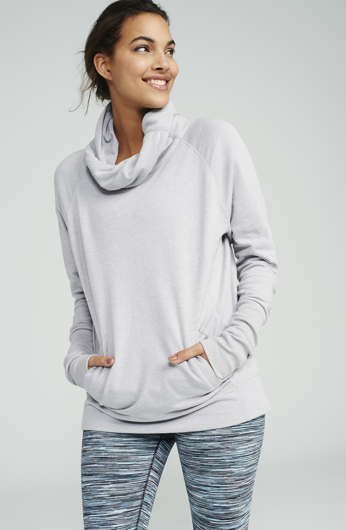 Alternate Image 6  - Zella 'Inner Peace' Cotton Blend Pullover