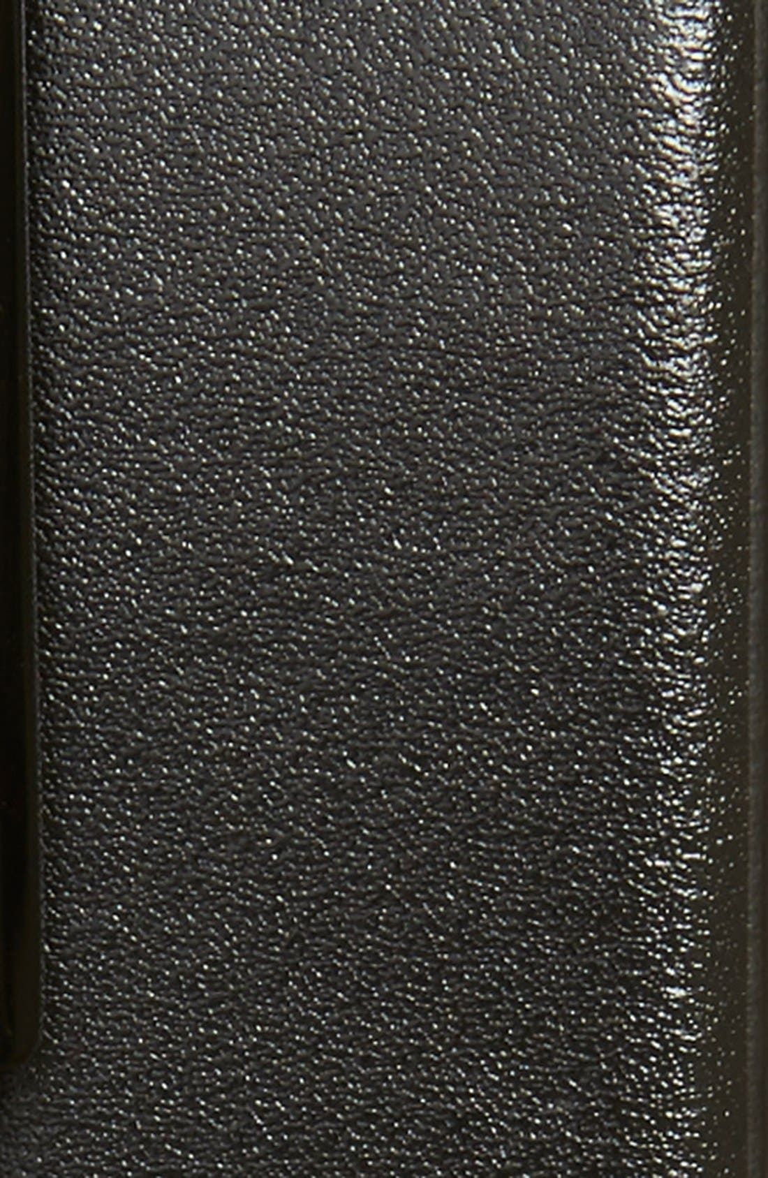 Elvio Reversible Leather Belt,                             Alternate thumbnail 3, color,                             Black/ Grey