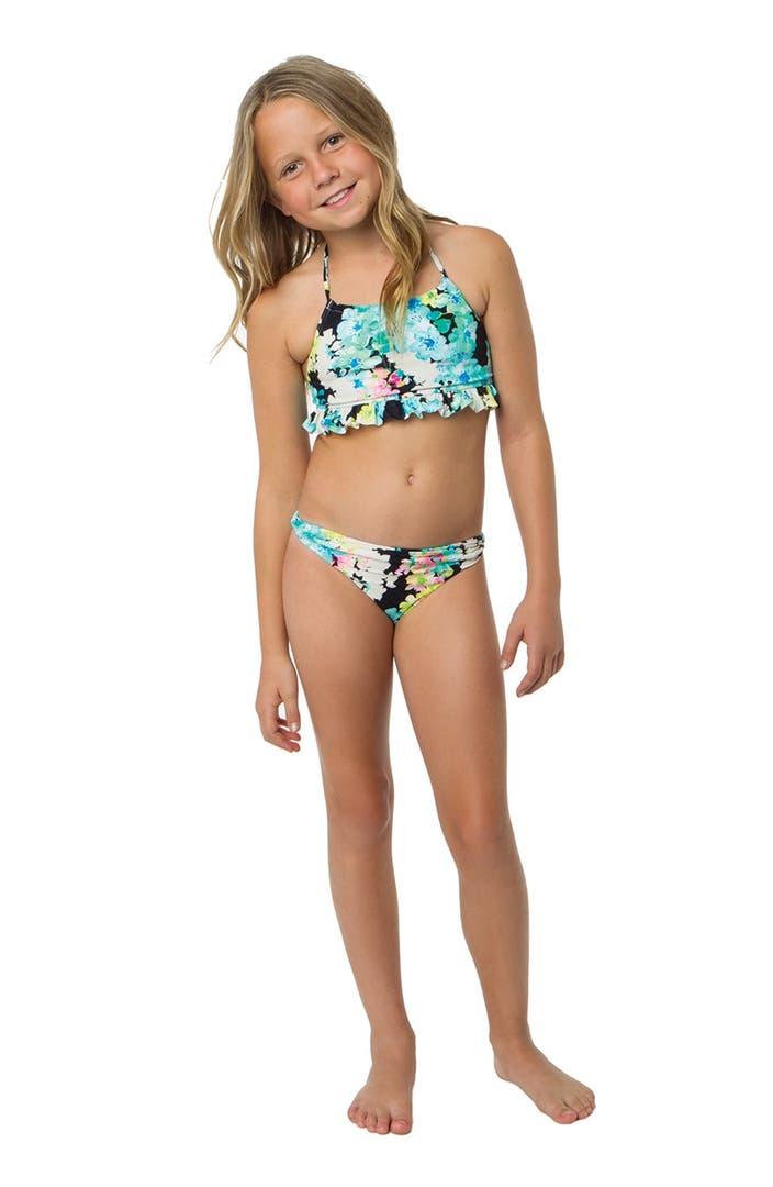 O Neill Flora Two Piece Swimsuit Little Girls Amp Big