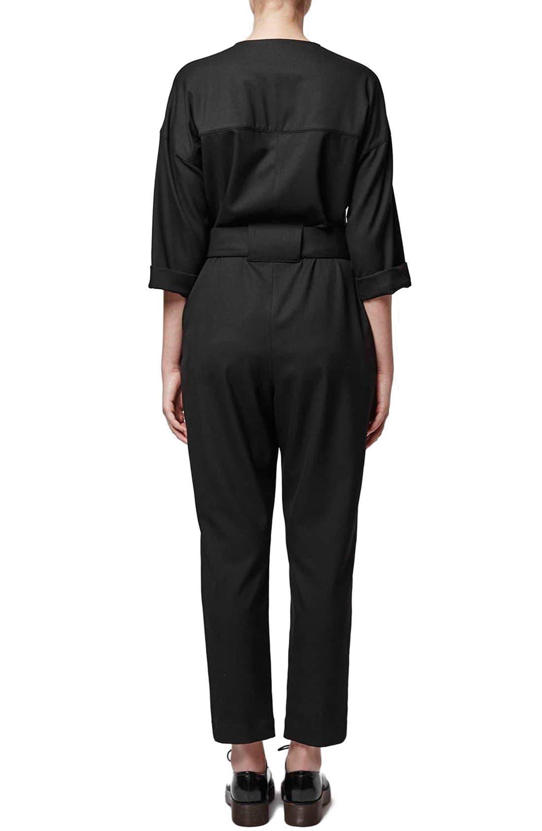 Alternate Image 2  - Topshop Boutique Tailored Jumpsuit