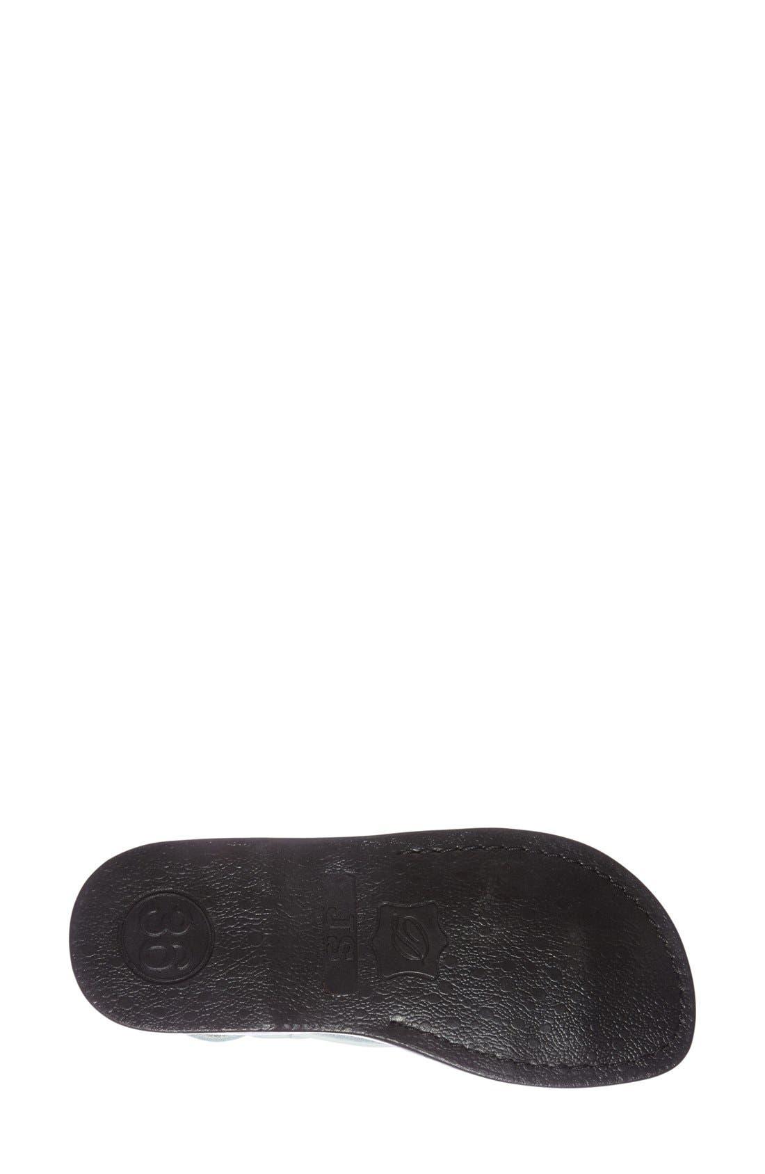 'Tamar' Strappy Sandal,                             Alternate thumbnail 4, color,                             White Leather