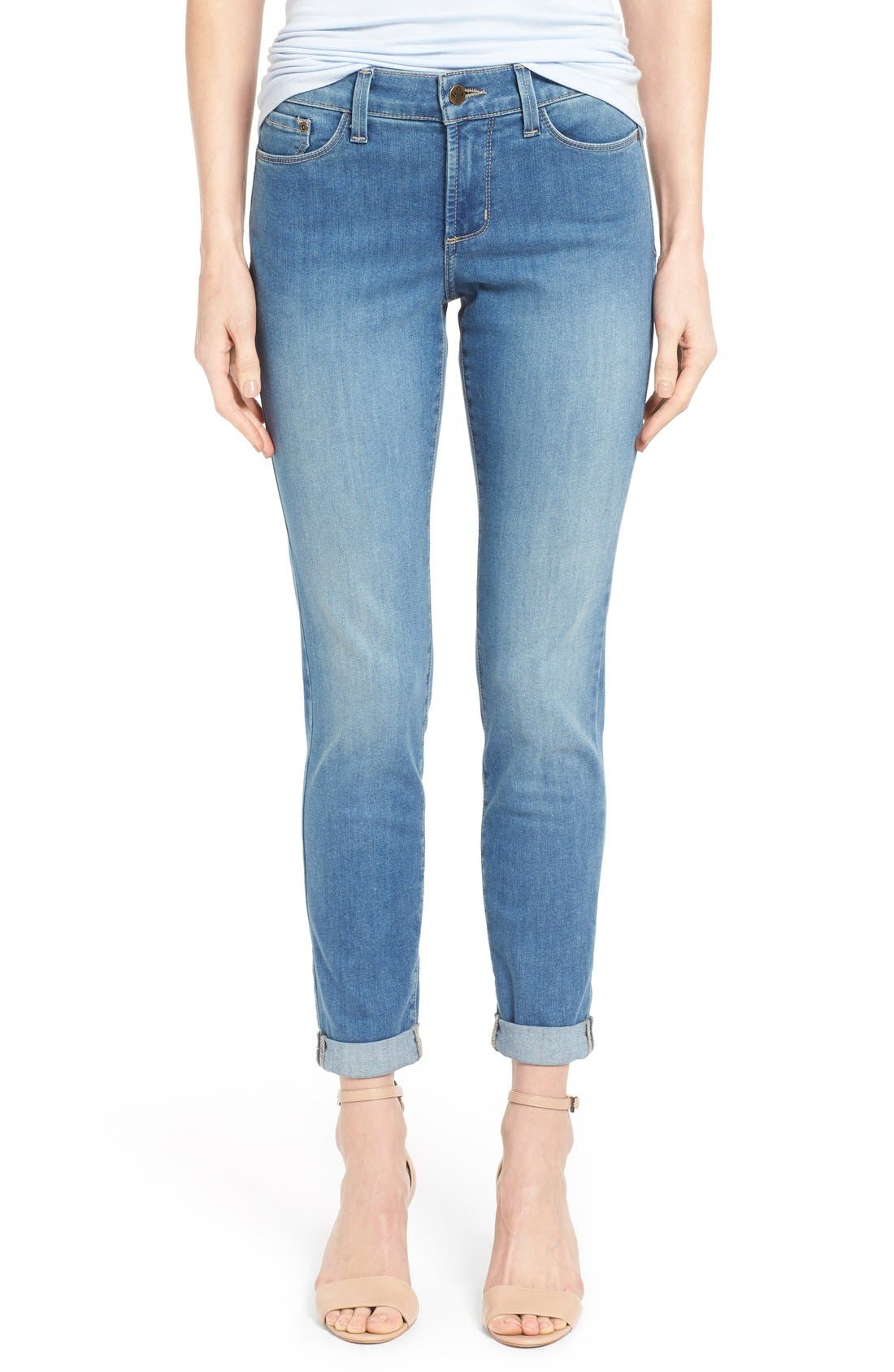 Alternate Image 1 Selected - NYDJ 'Anabelle' Stretch Skinny Boyfriend Jeans (Upper Falls) (Regular & Petite)