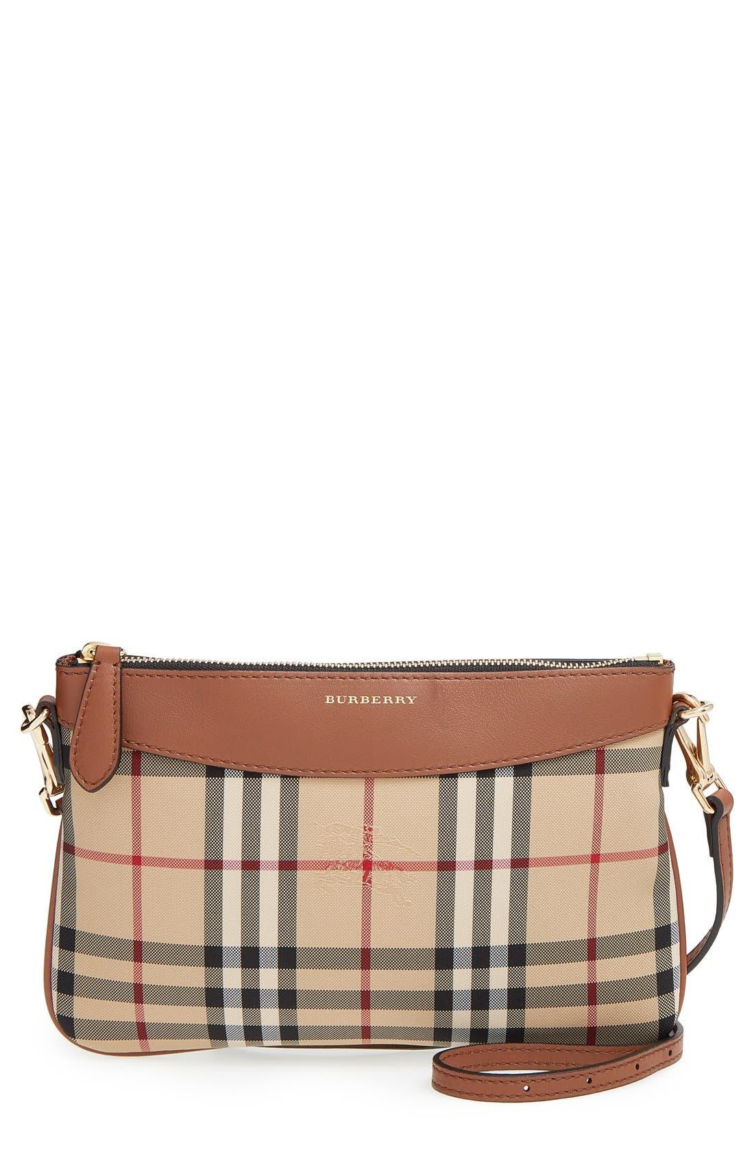 Alternate Image 1 Selected - Burberry 'Peyton - Horseferry Check' Crossbody Bag