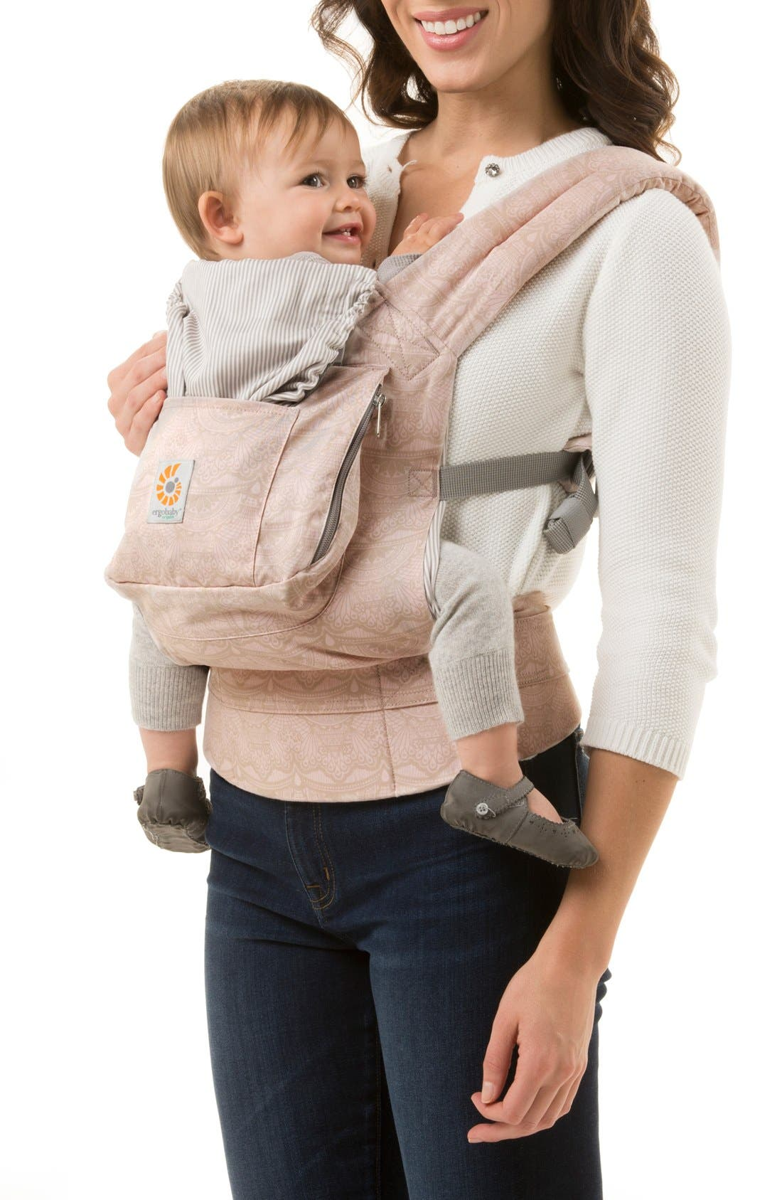 Alternate Image 2  - ERGObaby Organic Cotton Baby Carrier (Baby)