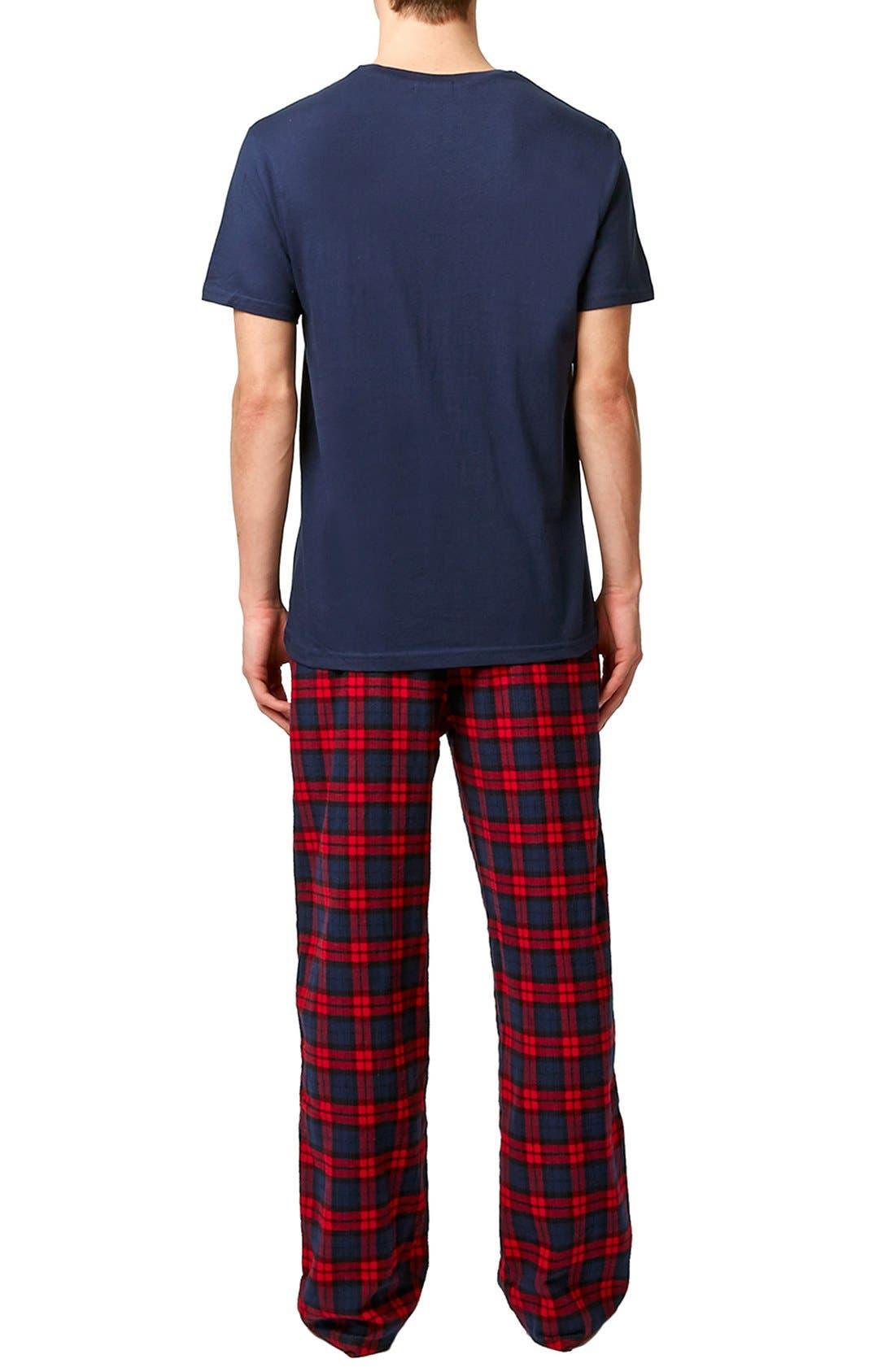 Blue & Red Pajamas,                             Alternate thumbnail 2, color,                             Red Multi