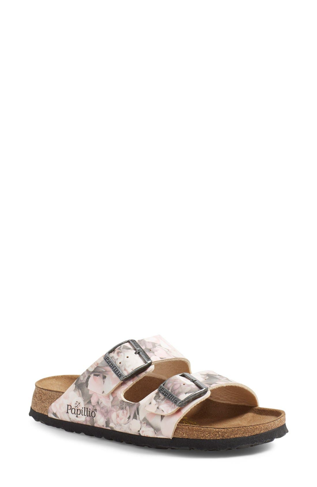 Papillio by Birkenstock 'Arizona' Birko-Flor Sandal,                             Main thumbnail 1, color,                             Silky Rose Faux Leather