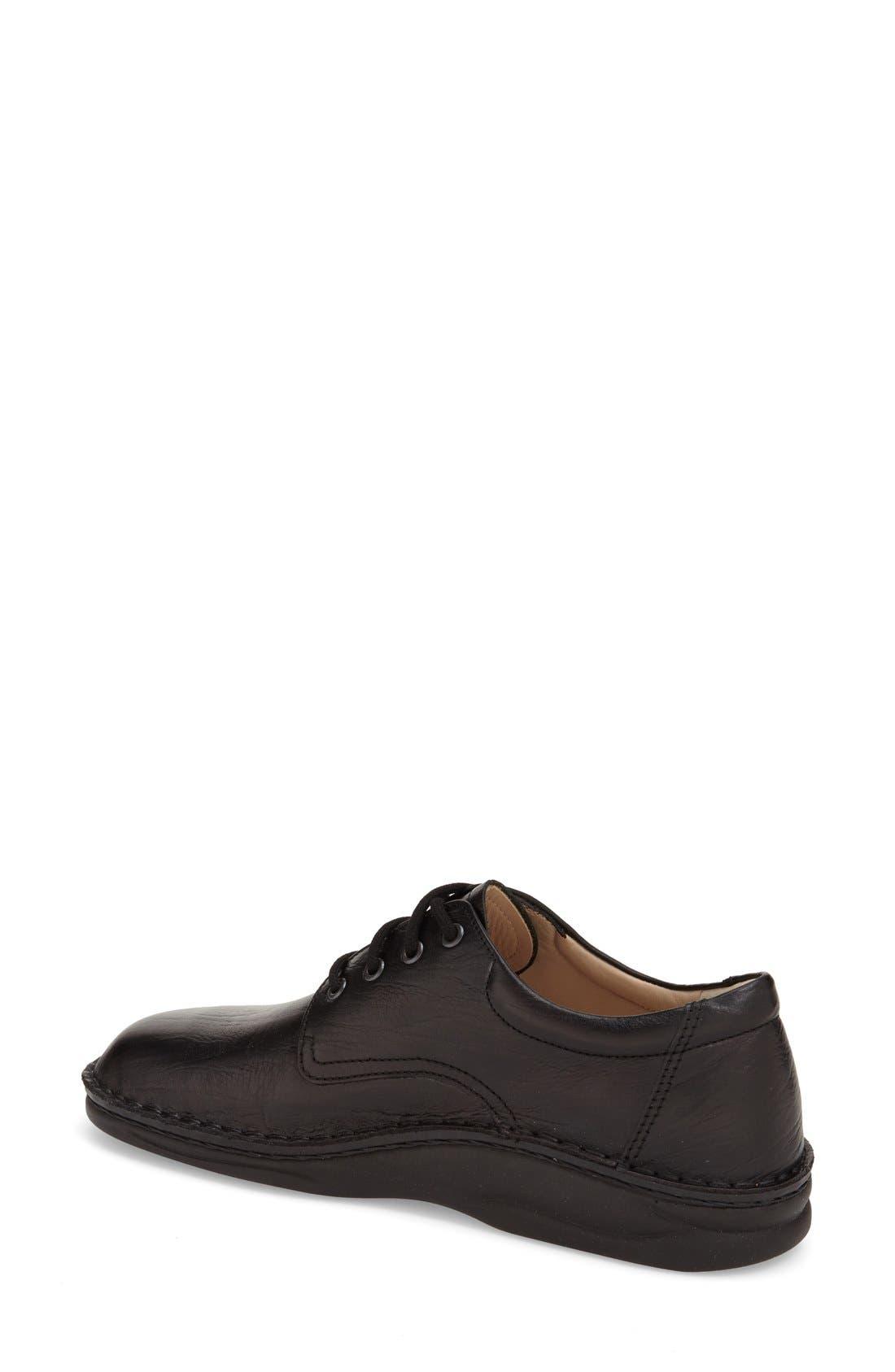 'Metz' Oxford,                             Alternate thumbnail 2, color,                             Black Leather