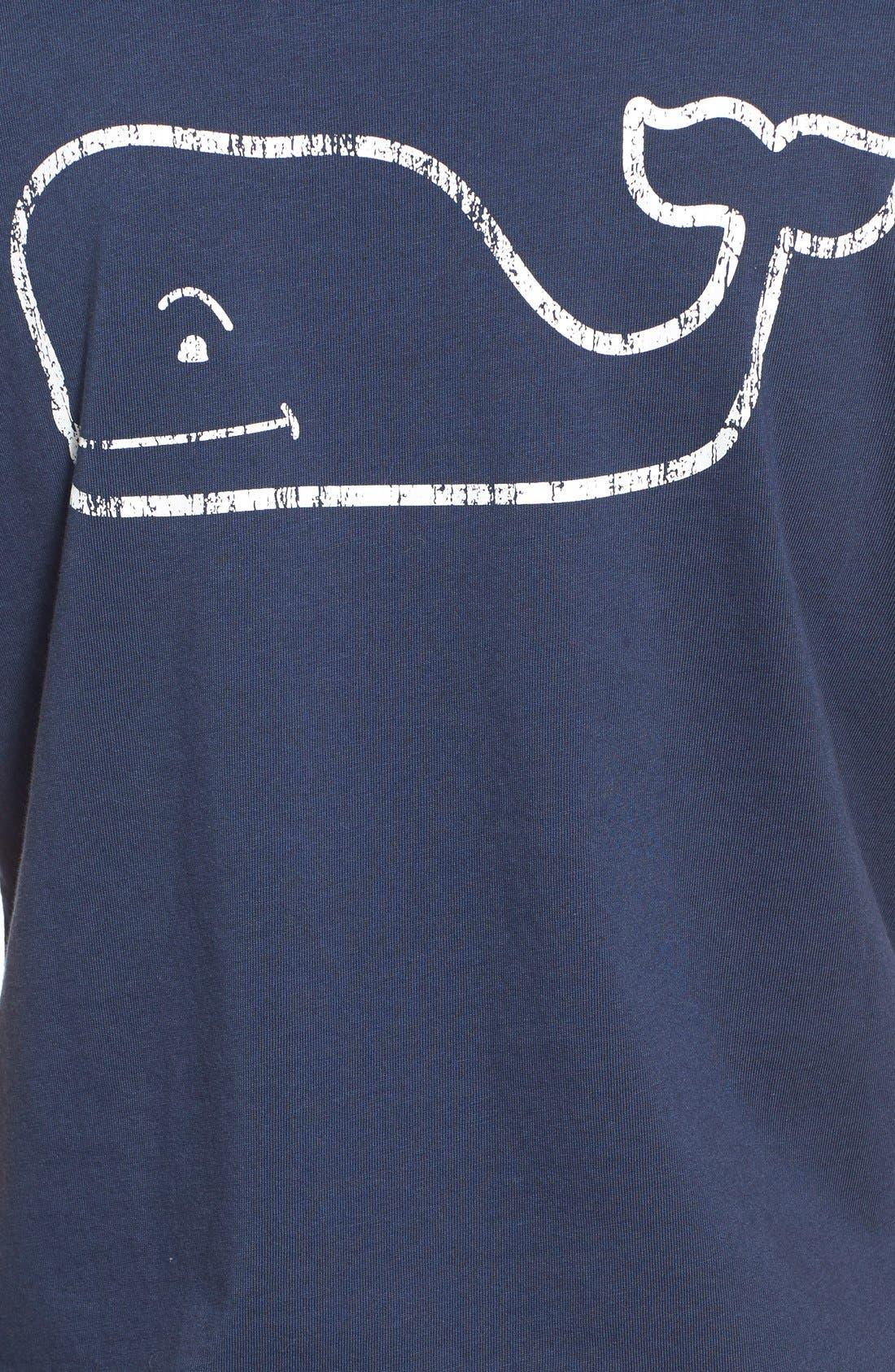 Whale Graphic Short Sleeve Pocket Tee,                             Alternate thumbnail 3, color,                             Blue Blaze